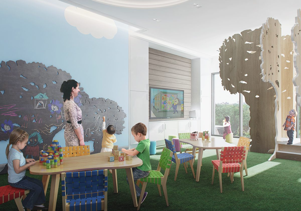 A childrens plat room