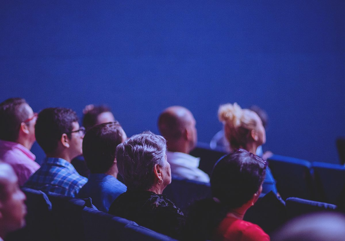 People sitting in a theatre